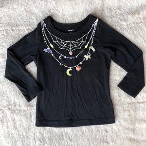 Carter's glow in the dark Halloween top